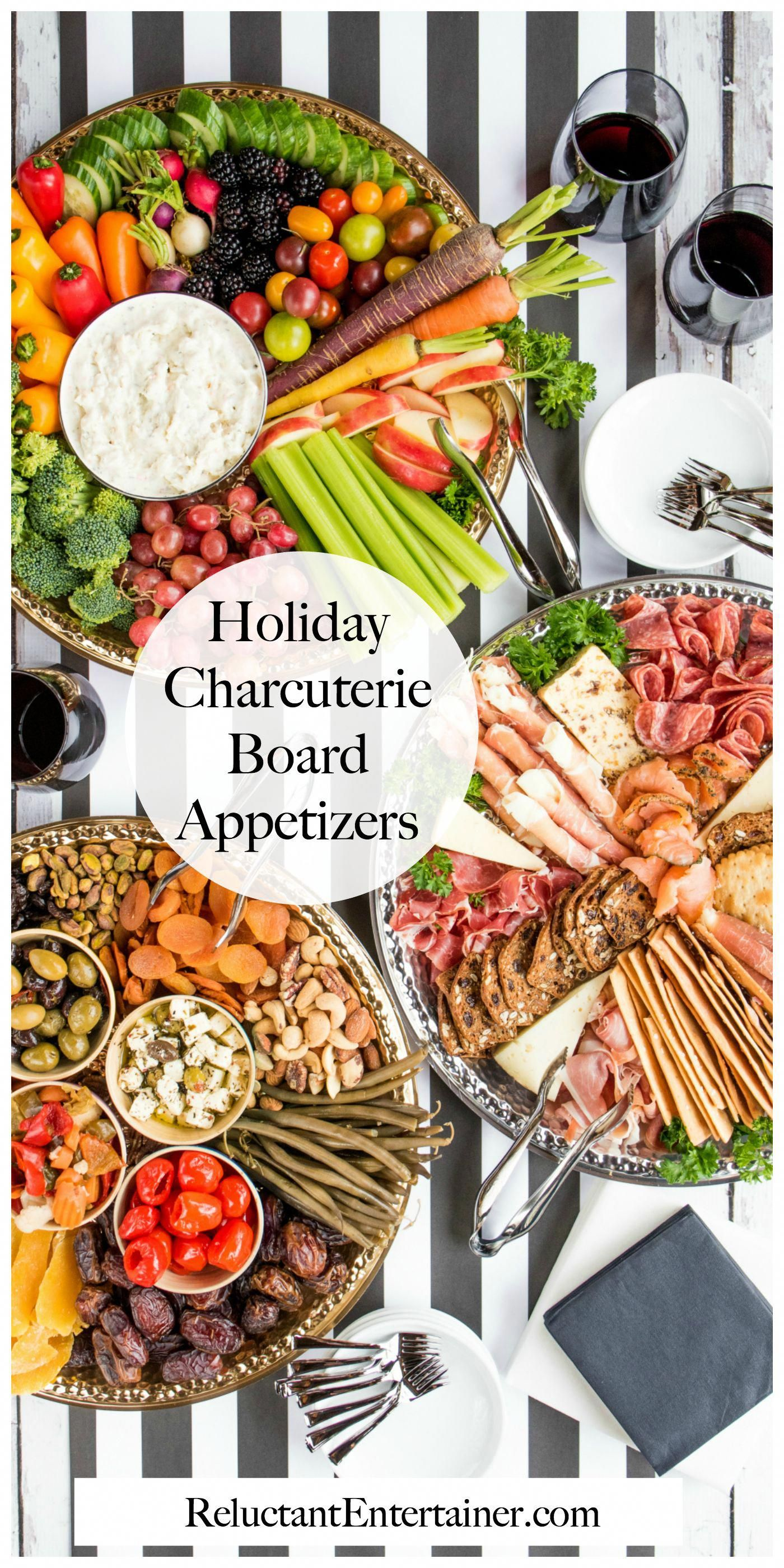 Holiday Charcuterie Board Appetizers #canaryandking # ...