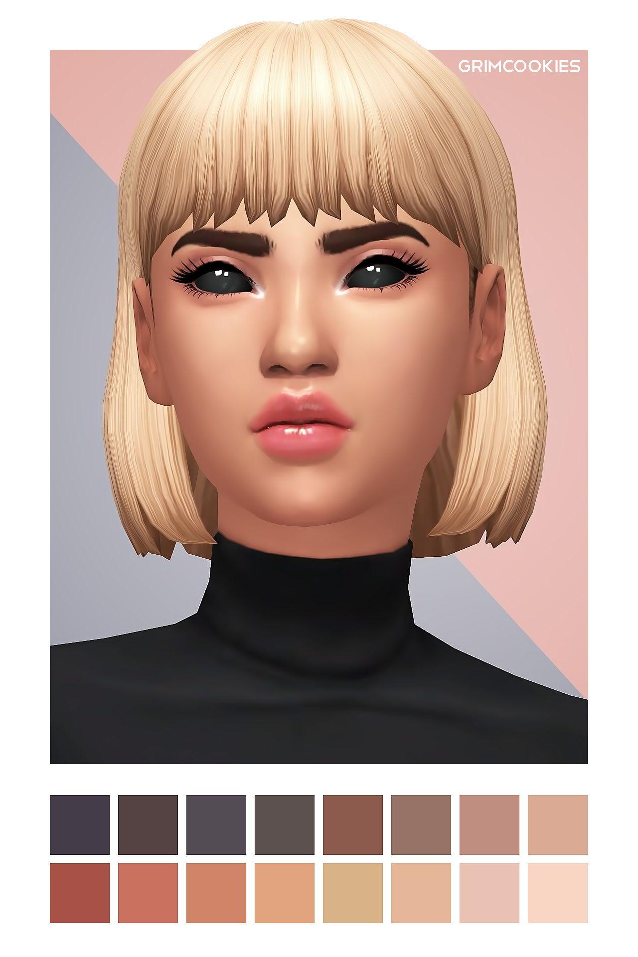 Grimcookies Jessie Bob Sims 4 Hairs Sims Hair Short Hair Styles Sims 4