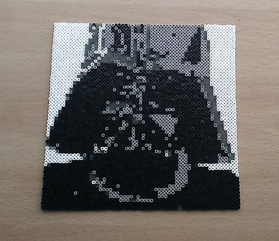 Darth Vader Portrait Bead Art. Star Wars by PixelBeadPictures