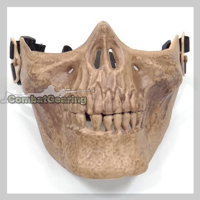 M02 Soldiers Skeleton Half Face Mask Skeleton Cb Model Mask 6576 Sk Www Combatgearing Com Combat Gear Mask Skull