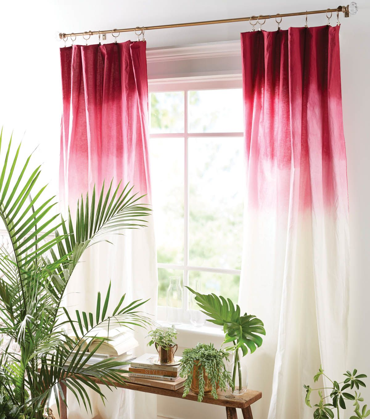 ombre curtains diy home decor home decor with joann. Black Bedroom Furniture Sets. Home Design Ideas