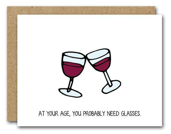 PRINTABLE Funny Birthday Card Wine Lover INSTANT DOWNLOAD Red Celebrate Bir