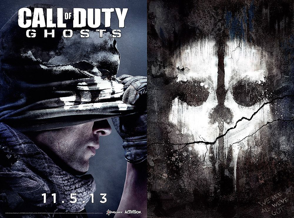 Call Of Duty Ghosts Poster Double Sided Video Game Promotional Poster Call Of Duty Call Of Duty Ghosts Activision