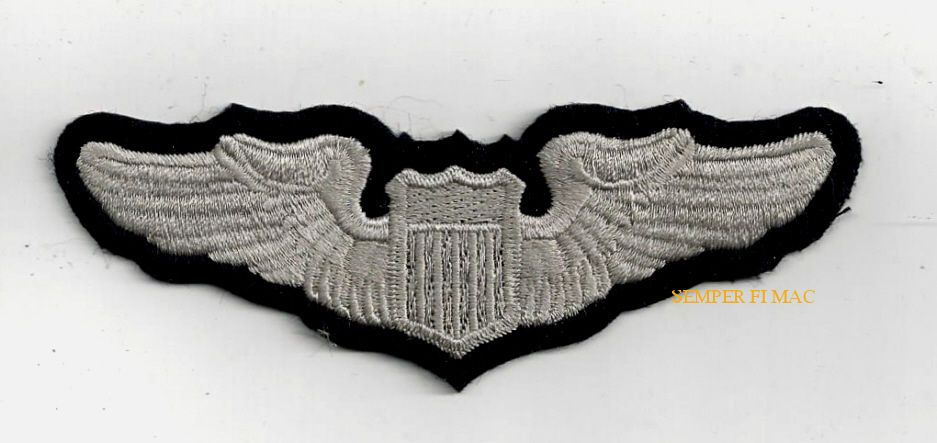 US AIR FORCE PILOT WING US ARMY CORPS COLLECTOR PATCH! This