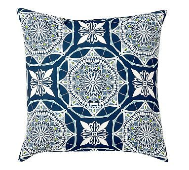 Betsy Medallion Indoor/Outdoor Pillow #potterybarn ...