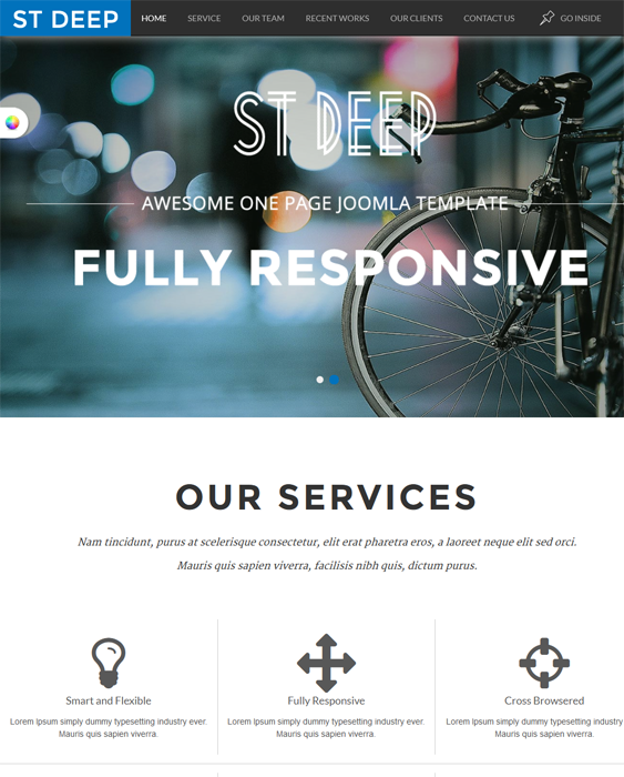 This free one page Joomla theme has a responsive layout, Kunena ...