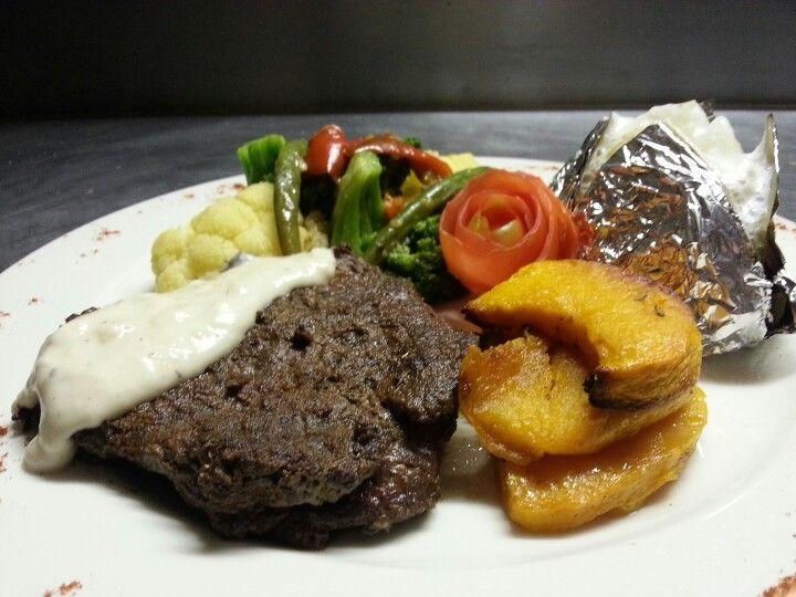 Delicious Eland Steak Eaten At Hakusembe River Lodge Food Delicious Steak