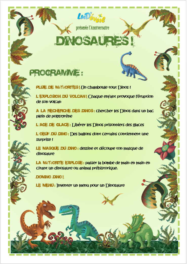 anniversaires enfants animations f tes dinosaures animation pinte. Black Bedroom Furniture Sets. Home Design Ideas
