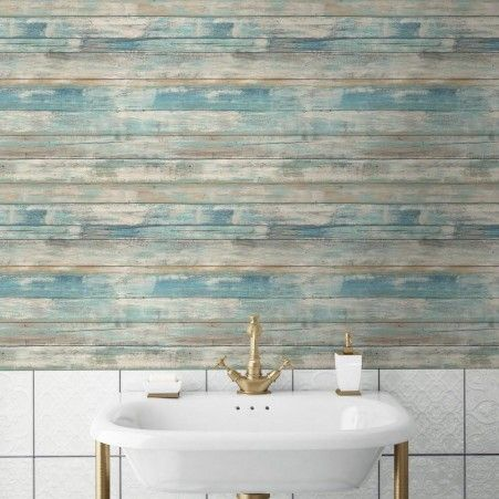 Distressed Wood Wall Decor distressed wood peel and stick wallpaper | wall decor, woods and walls