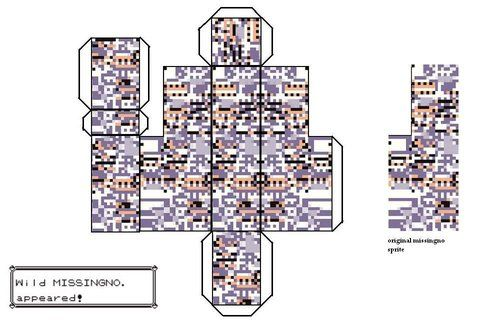 Missingno Papercraft Photo by HyruleanHero1988   Photobucket