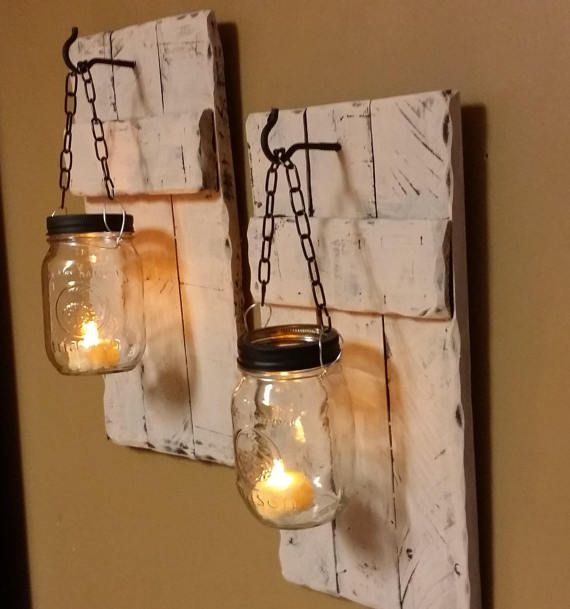 These Wood Sconce Candle Holders Are Made From Reclaimed