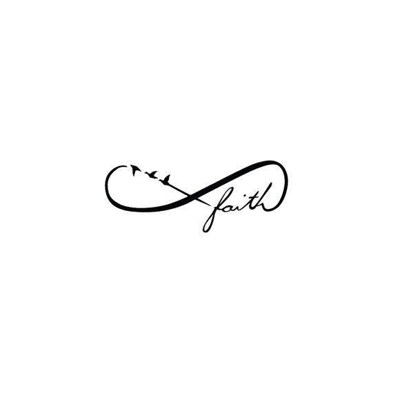 Infinity Faith Symbol Temporary Tattoo Set Of 2 By Tattify A