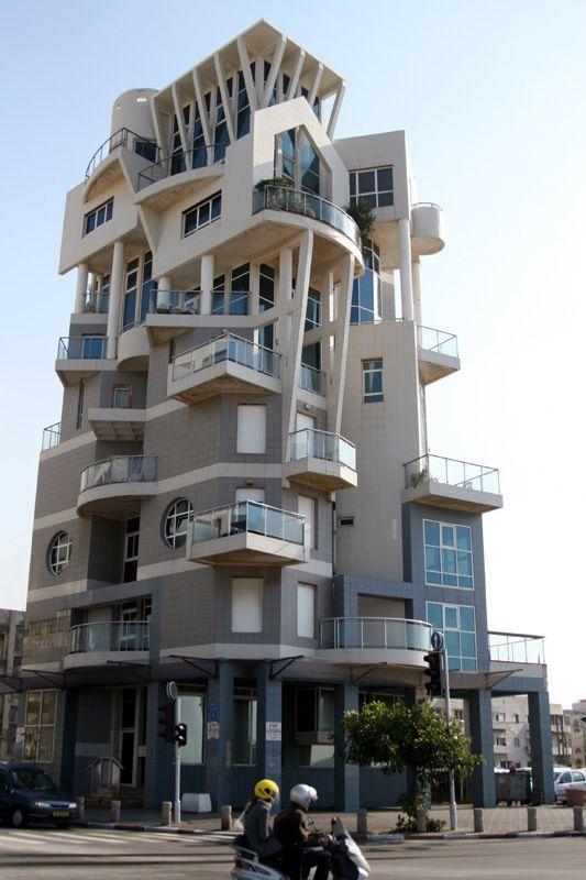 Tel Aviv Apartment Complex.  Architect?    http://www.dailymail.co.uk/travel/article-1219936/Tel-Aviv-treat-How-Bauhaus-bars-beach-turned-Israels-second-city-weekend-break-heaven.html