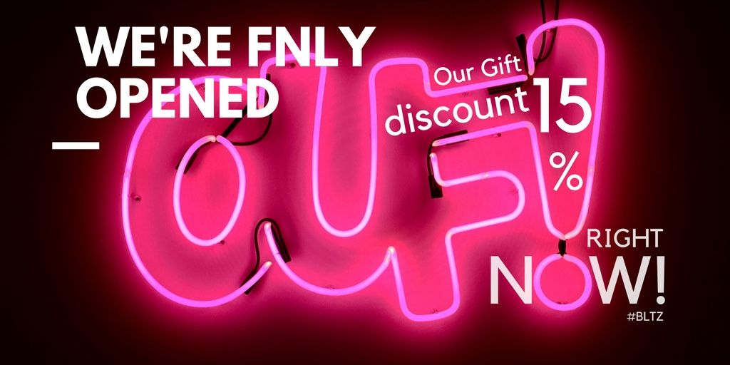 We Re Finally Opened And Give You Gift Discount Of 15 Right Now On