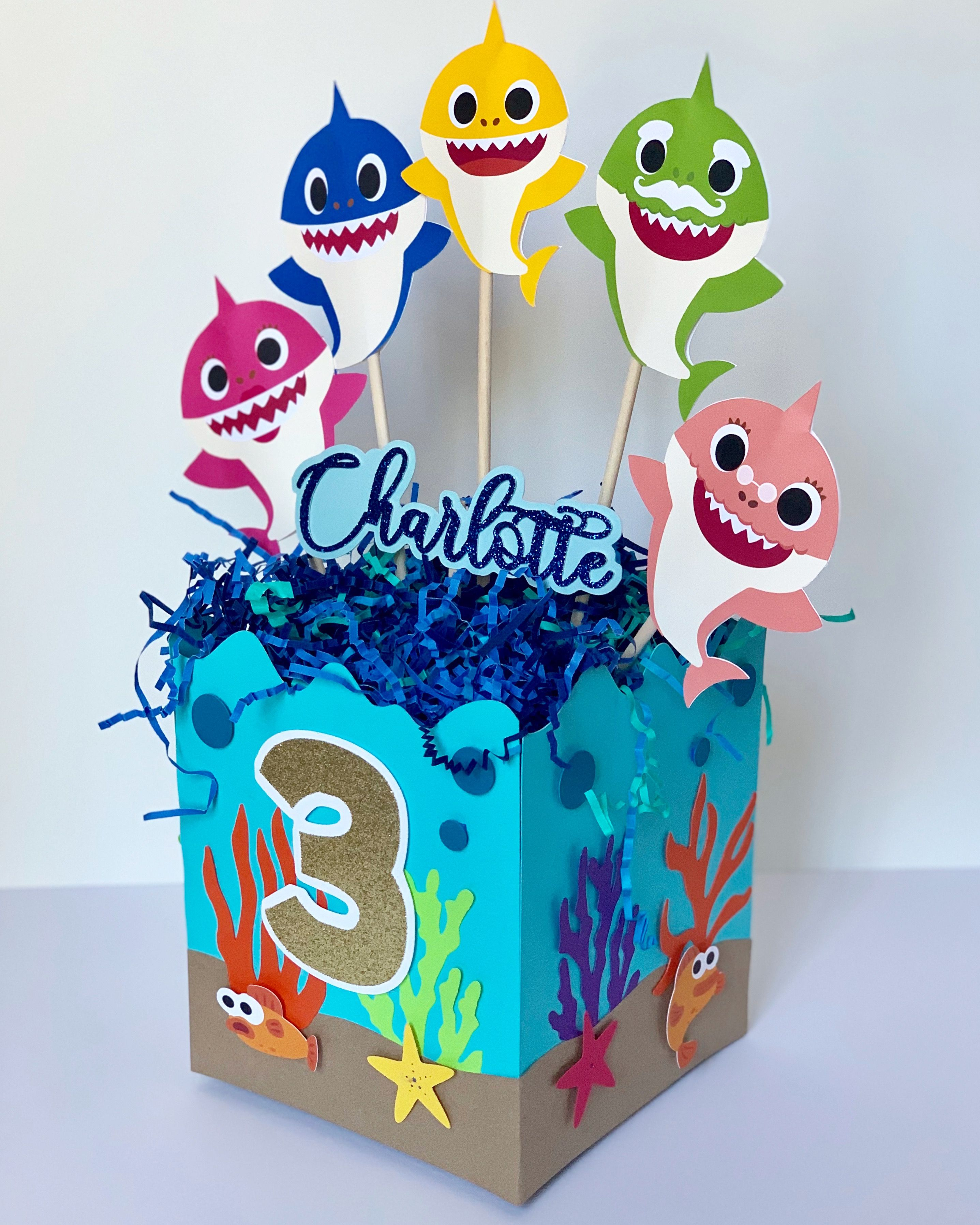 Baby Shark Centerpieces Baby Shark First Birthday Themes Baby