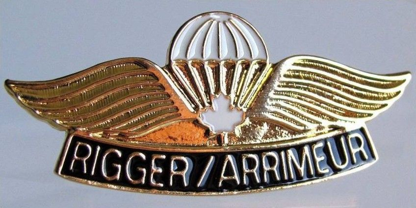 Canadian Forces Airborne Rigger Jump Wing Canadian Forces Riggers Jump Wings