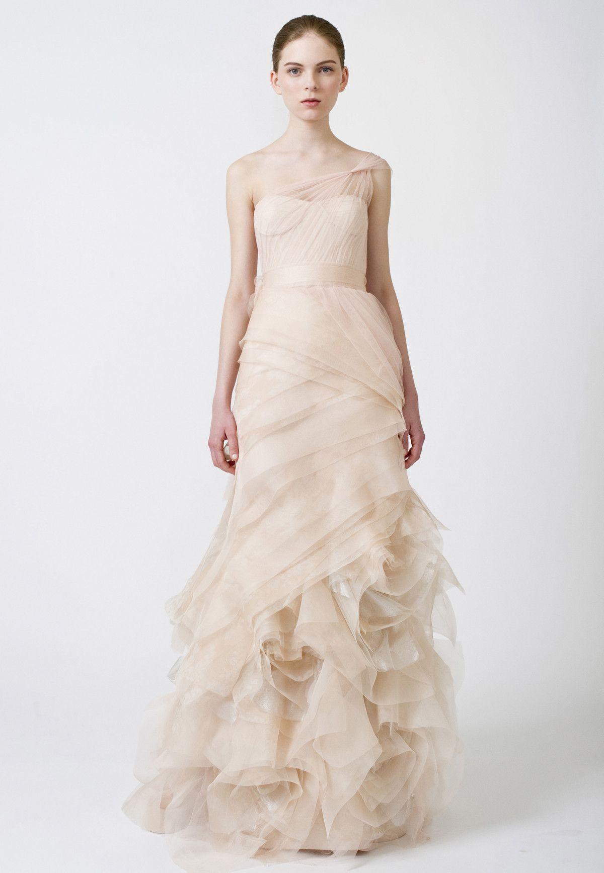 126099f66a One Shoulder Wedding Dress Vera Wang