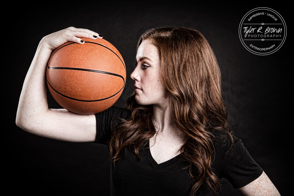 Lauren McKeen - Studio - Basketball - Athlete - Basketball Player - Fall - Senior Portraits - Class of 2016 - Liberty High School - Texas - Redhead - Frisco - Senior Pictures - #seniorportraits - Ideas for Girls - @The Makeup Junkie - #seniorpics - Tyler R. Brown Photography