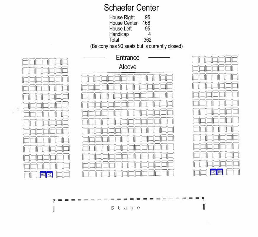 Seating Chart  Schaefer Center    Seating Charts And Chart