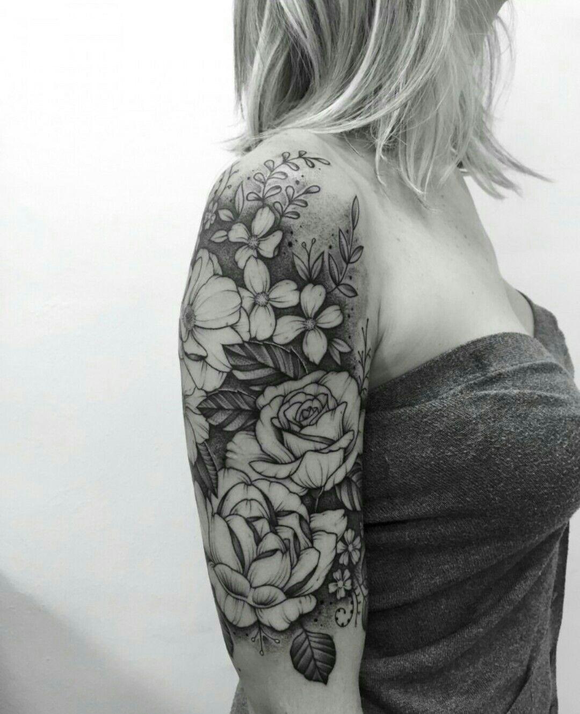 Pinterest cnicolebbyxo Floral tattoo sleeve, Tattoo
