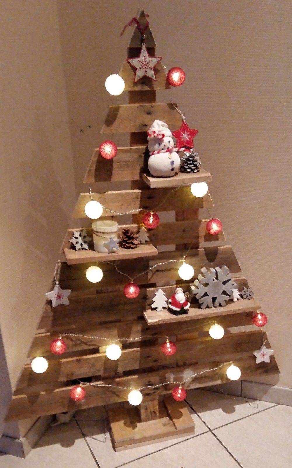 Sapin fabriqu uniquement en palettes werkst cke pinterest weihnachtswichtel basteln mit - Weihnachtsdeko palette ...