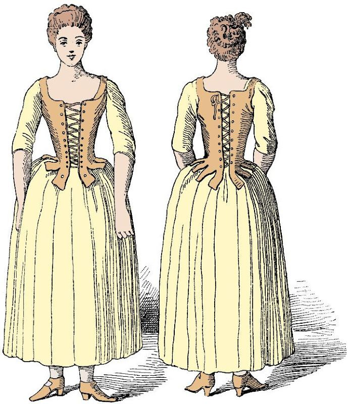 18th Century Working Class Woman In A Pair Of Stays From Le Corset A Travers Les Ages Published In 18th Century Stays Historical Costume 18th Century Costume