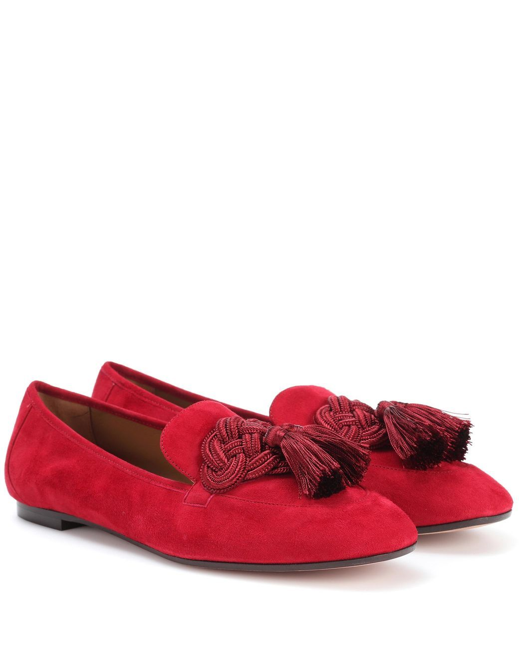 fc23928af Women's Red Embellished Suede Loafers | Loafers | Loafers, Suede ...