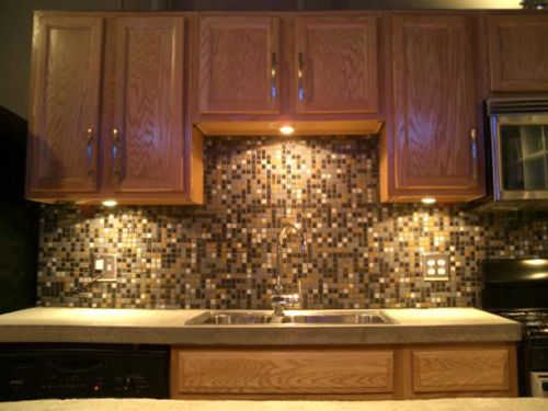 backsplash for golden oak cabinets | spectralight backsplash