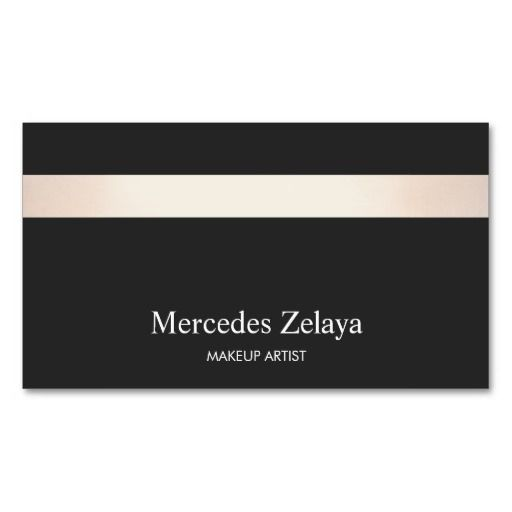 Subtle Rose Gold Striped Modern Stylish Black Business Card