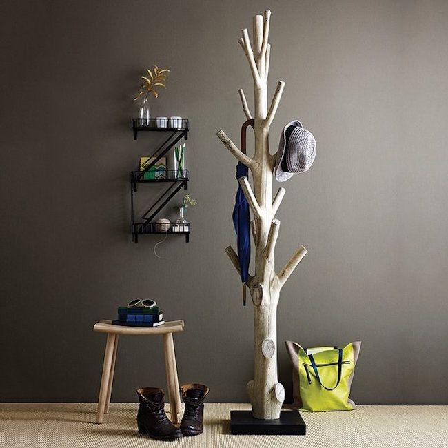 Discarded Tree Trunk Coat Rack Home Diy Diy Inspiration Decor