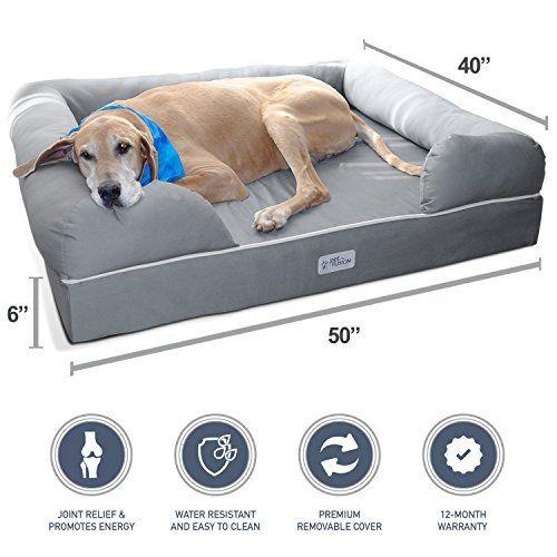 Kopeks Deluxe Orthopedic Memory Foam Round Sofa Lounge Dog Bed Jumbo Xl Grey Sobachij Ugolok Koshachi Krovati Krovati Dlya Zhivotnyh