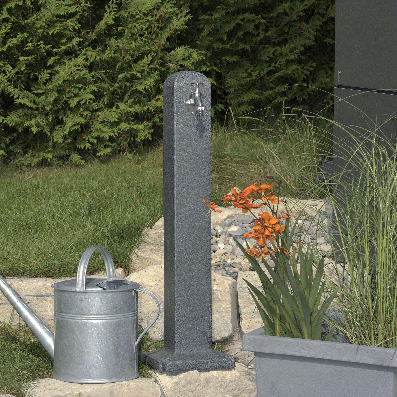 wasserzapfstelle poller black granit | záhrada | pinterest | water