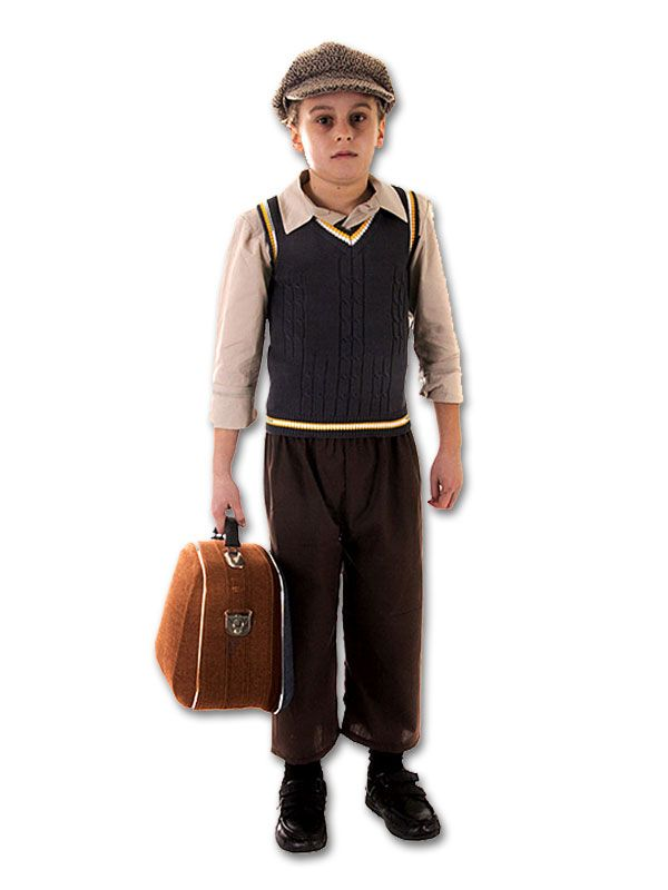 Childrens Book Week Day Fancy Dress Costume Outfit War Times Evacuee Boy Kit