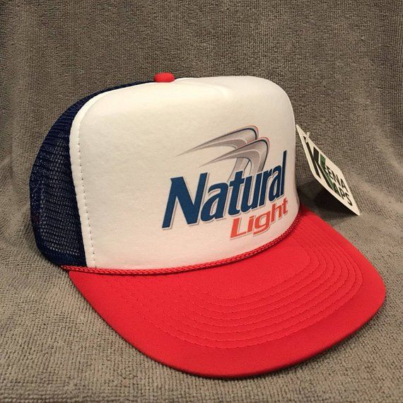 ed1a06ecc8eea Natural Light Beer Trucker Hat Vintage Snapback Party Cap Red White Blue  2251