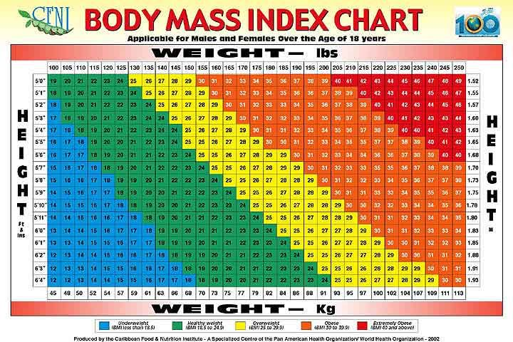 Bmi Calculator Women Over 50 Body Mass Index Bmi Table Health