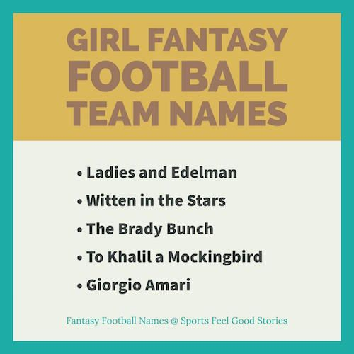 Girl Fantasy Football Team Names Good Cool And Funny Football Team Names Fantasy Football Names Funny Fantasy Football Names