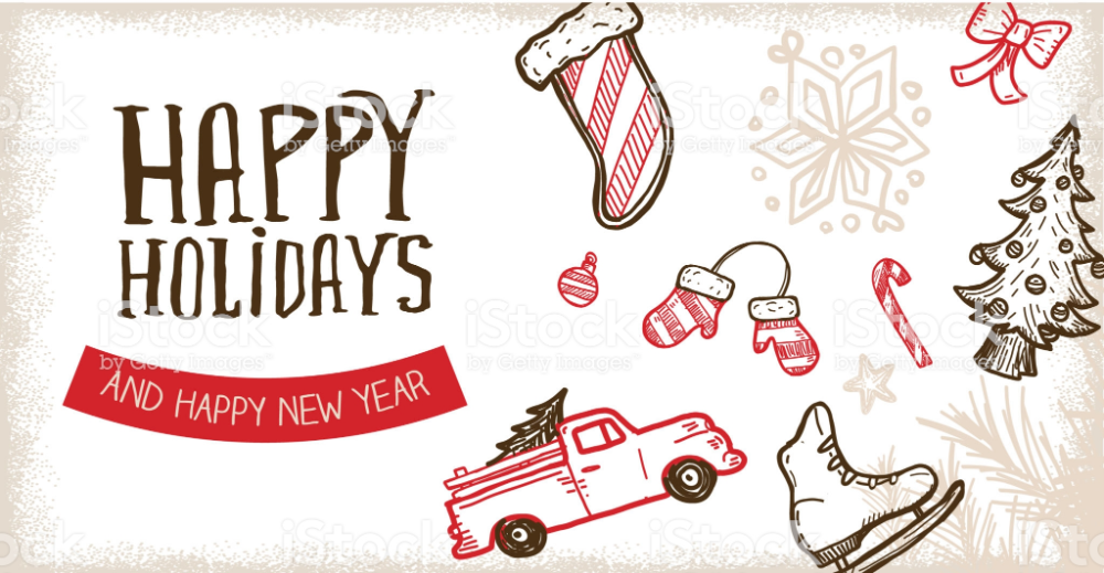 Vector Illustration Of A Happy Holidays Greeting Web Banner Design Web Banner Design Banner Design Happy Holidays Greetings