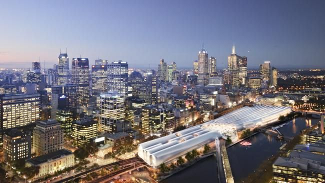 HASSELL + Herzog  Meuron (Melbourne and Switzerland) won the design contest for the Flinders Street Station in Melbourne. The Government has two years to decide whether to proceed with the design.