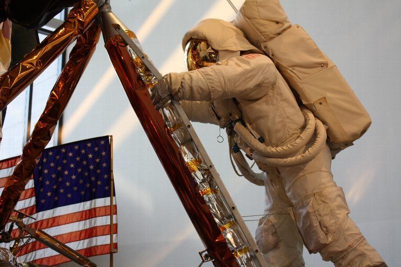 Apolla astronaut and LEM replica