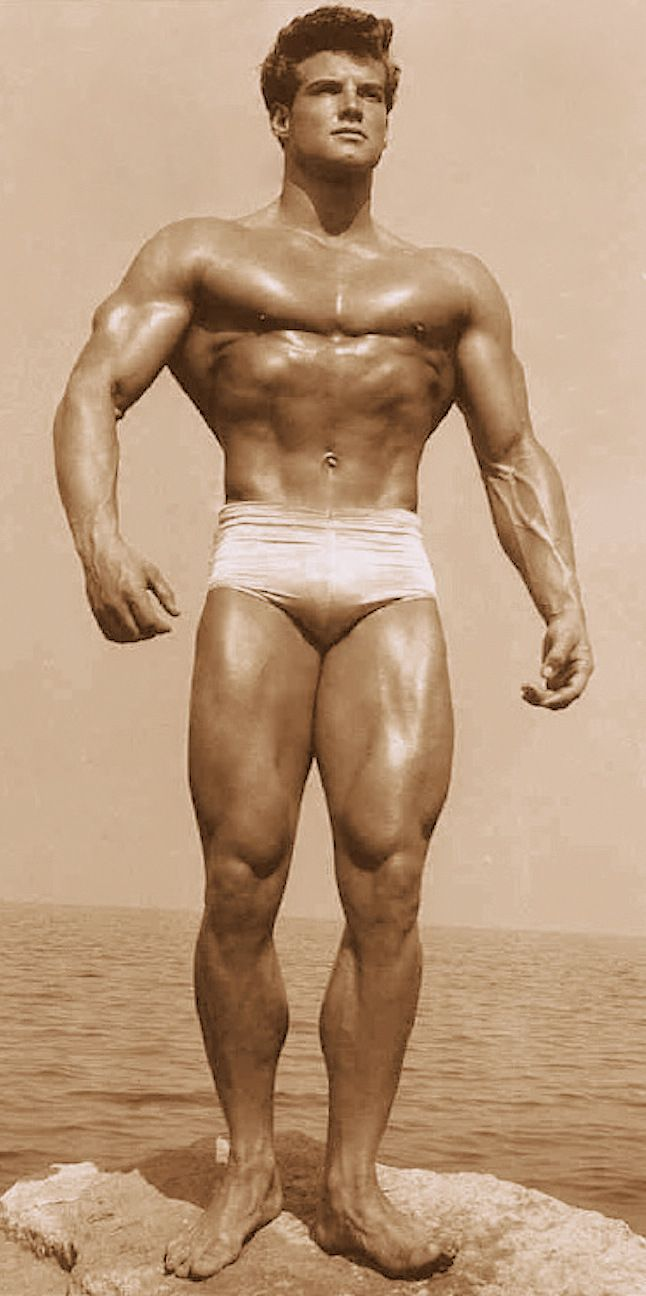 STEVE REEVES Bodybuilder & Actor 1950's Photo by Lanza. (minkshmink)