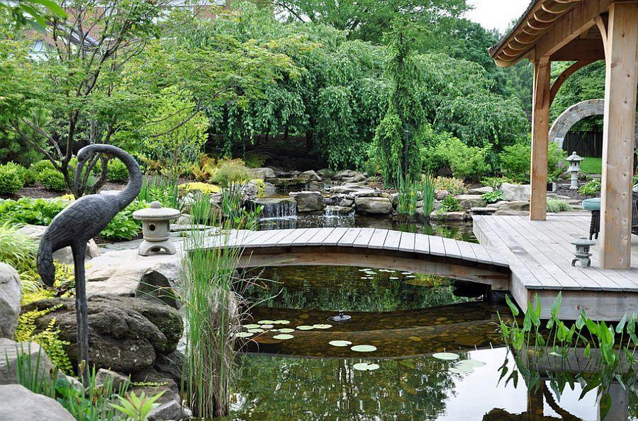 50 Dreamy and Delightful Garden Bridge Ideas | Asian landscape ...