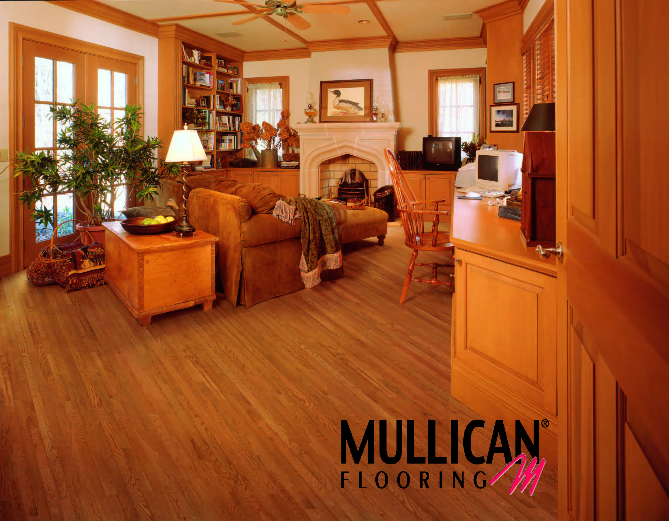 St Andrews Oak Gunstock Is A 3 4 Inch Solid Wood It Comes In 2 1 4 3 Widths And There Are 24 Square Feet In A Carton Mullican Flooring Oak Floors Mullican