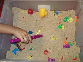 Chalk Talk: A Kindergarten Blog: Sand and Magnet Center