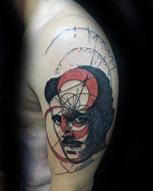 Henna Tattoo Für Jungs: 60 Nikola Tesla Tattoo Designs Für Männer