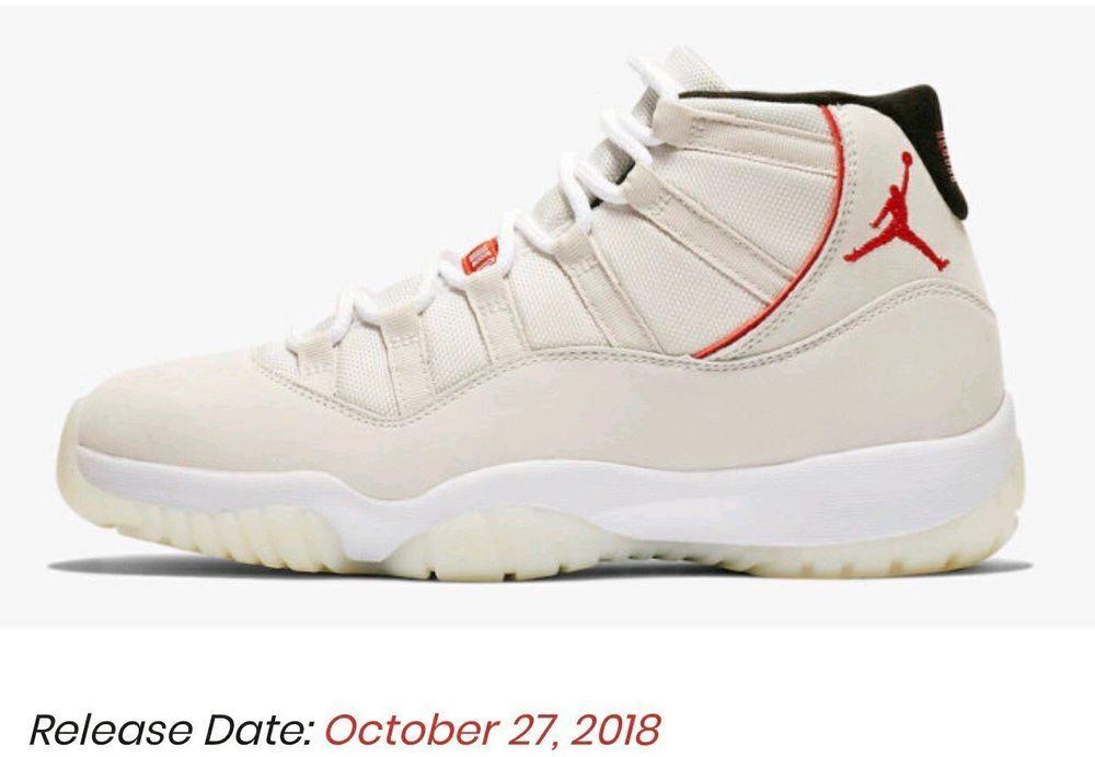13233e51ded Air Jordan 11 Platinum Tint Sail-University Red Mens Sizes Grade School  Sizes  fashion  clothing  shoes  accessories  mensshoes  athleticshoes (ebay  link)