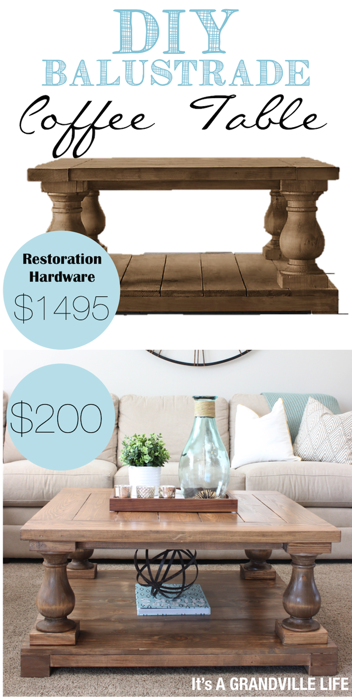 DIY Balustrade Coffee Table Restoration Hardware Restoration And - Restoration hardware coffee table look alike