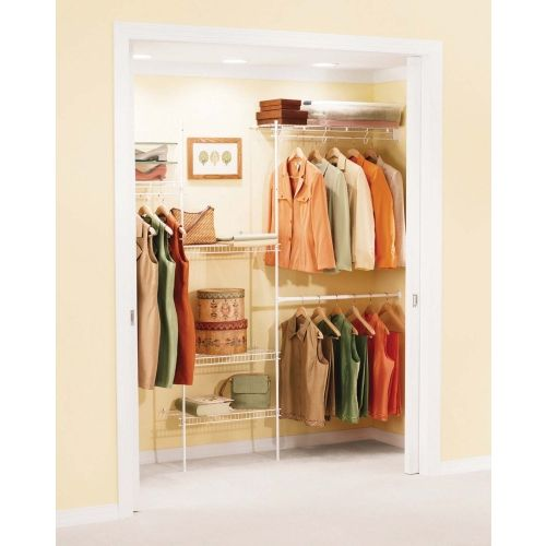kids rubbermaid 35ft free slide closet organizer 3d1000wht ace