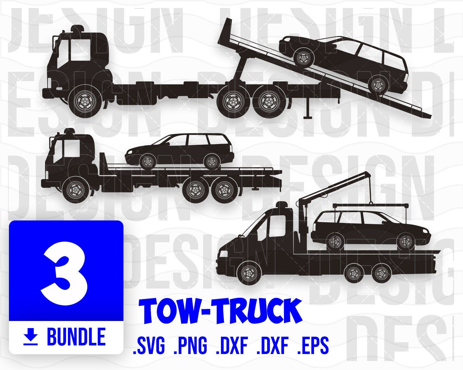 Tow Truck Svg Tow Truck Clipart Tow Truck Vector Tow Truck Cricut Towtruck Silhouette Tow Truck Print Tow Truck Design Trucks Print Svg Truck Design