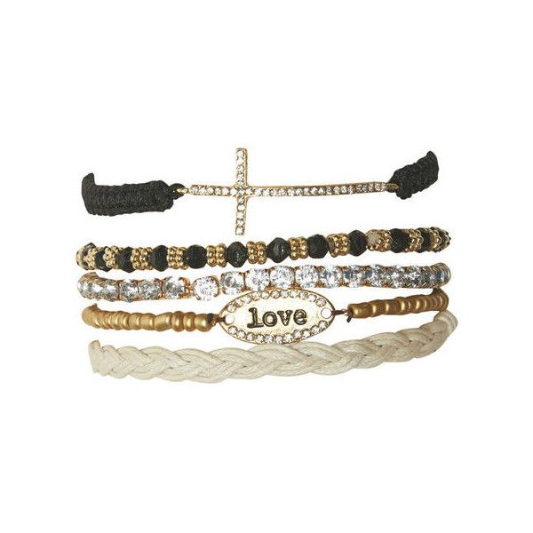 Love Cross Friendship Bracelet Set (13 AUD) ❤ liked on Polyvore