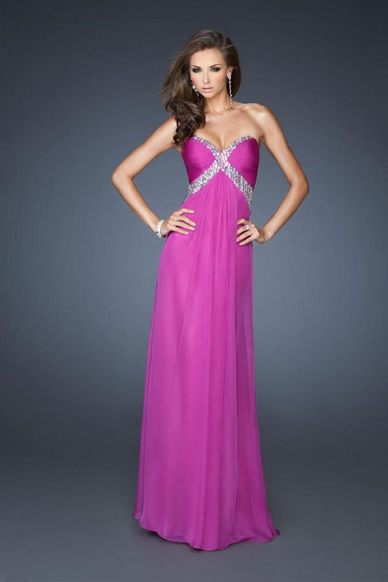2014 Sweetheart Pleated Bodice Cut Out Back With Straps Going Across ...